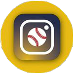 Instagram icoon invers