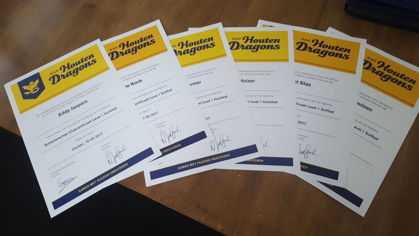 scheidsrechters certificaten